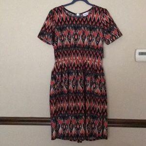 Chevron Print LuLaRoe Amelia Dress - NWT
